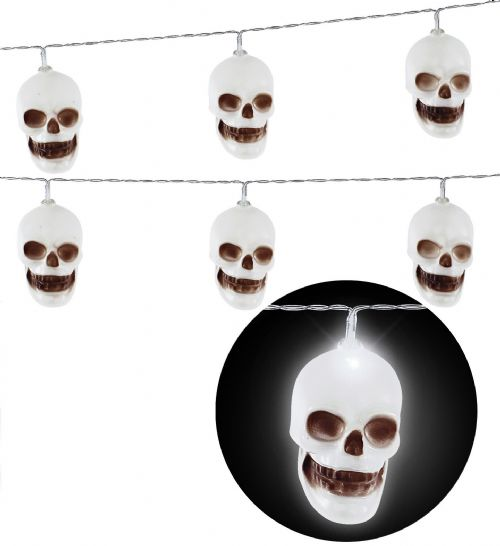 SKULLS LIGHT CHAIN 2,5 m Decoration Halloween Skeletons & Skulls